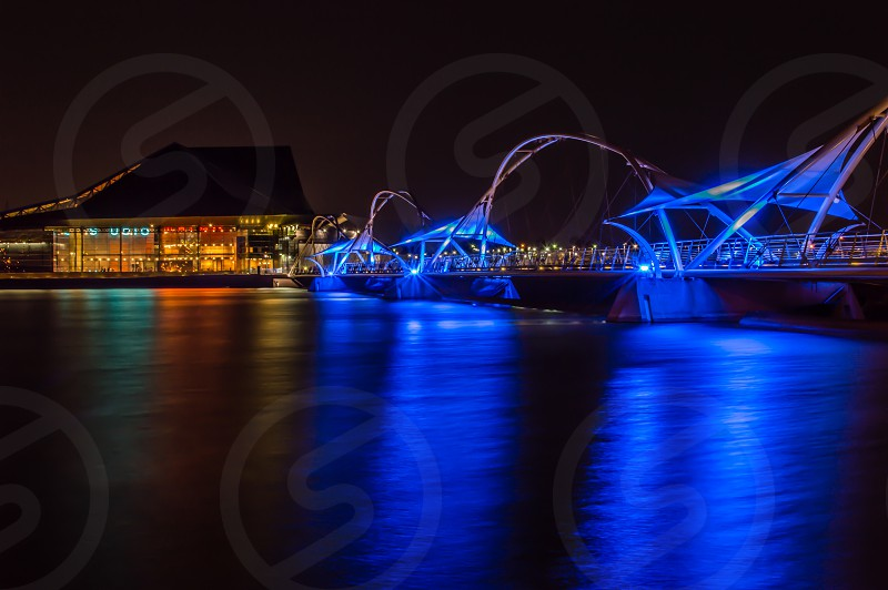 Tempe center for the Arts at night photo