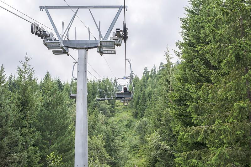 Lift in the mountain. Fir forest. Bulgaria Rila mountain photo