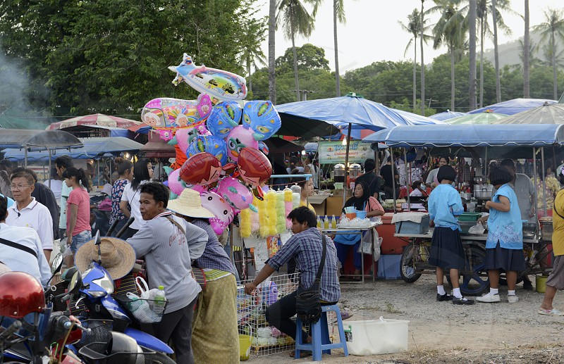 a regional market near Rawai on the Phuket Island in the south of Thailand in Southeastasia. photo