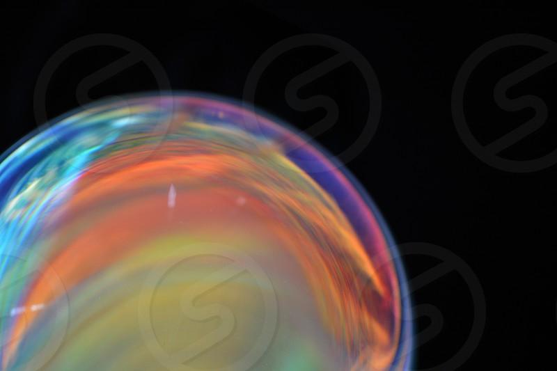 Crystal Ball magic black background photo