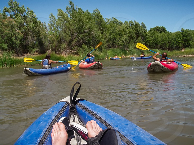 kayaking on a river water activity in Arizona photo