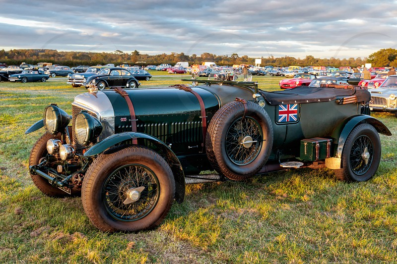 Vintage Bentley Parked at Goodwood photo