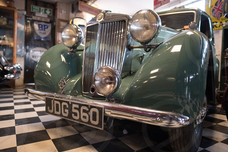 Old MG in the Motor Museum at Bourton-on-the-Water photo
