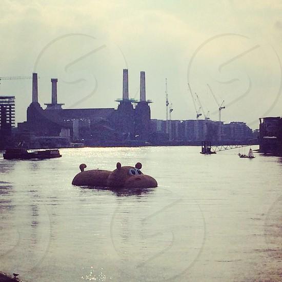 London City thames hippo installation photo