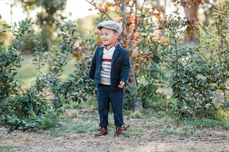 Oldies fall cozy outdoors children boy photo