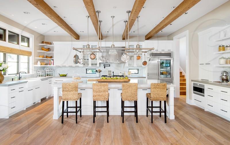 Modern chic rustic kitchen photo