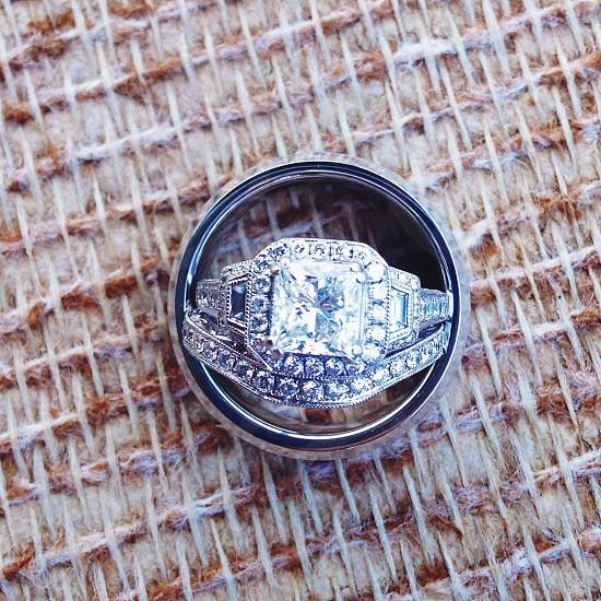 diamond silver ring photo