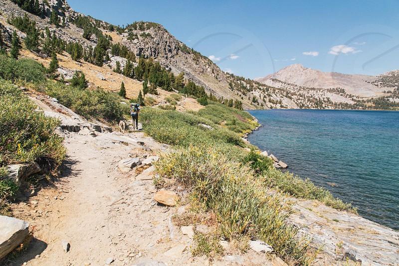 Sierra nevada backpacking trip photo