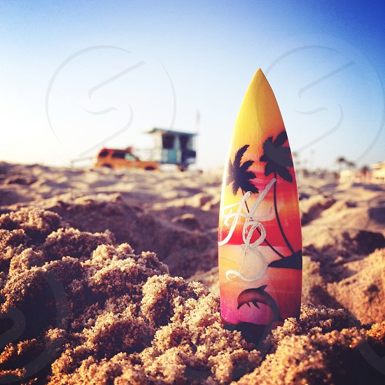 multi colored surf board photo