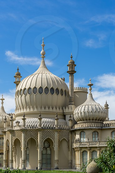 BRIGHTON SUSSEX/UK - AUGUST 31 : View of the Royal Pavilion in Brighton Sussex on August 31 2019 photo
