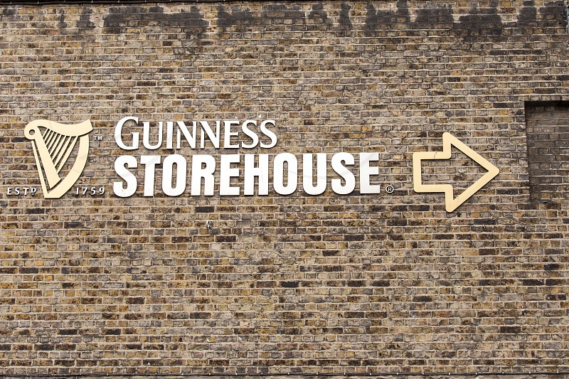 The sign leading you to the Guinness Storehouse.  Dublin Ireland photo
