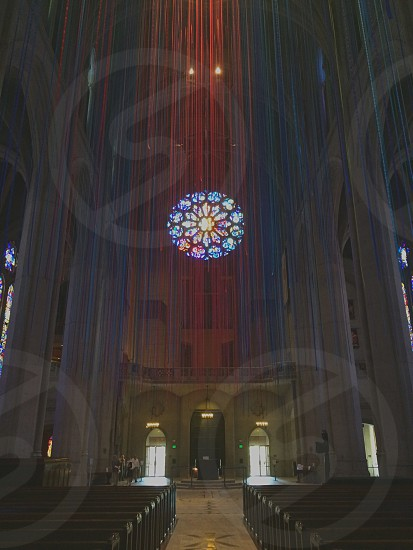 cathedral rosetta stained glass windows photo