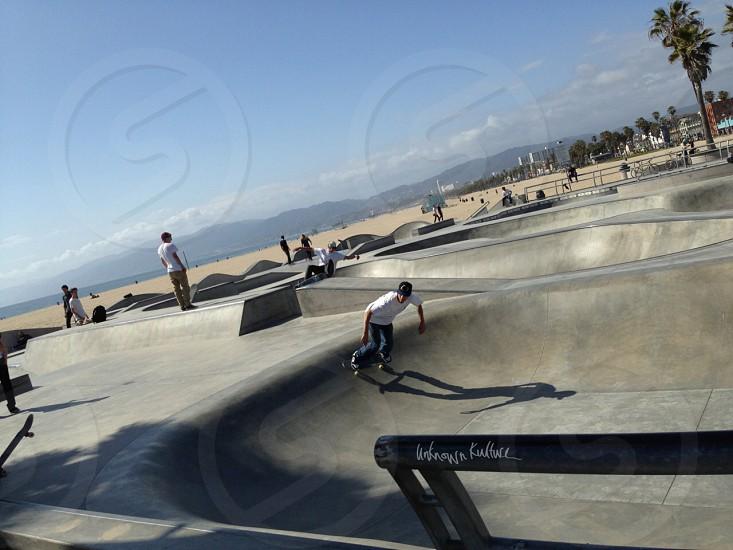 Santa Monica skate park LA photo