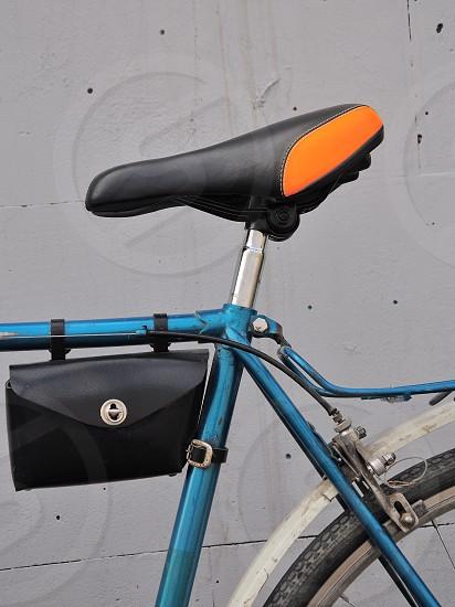 blue framed road bike photo