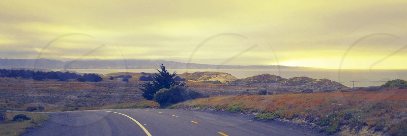 concrete road view  photo