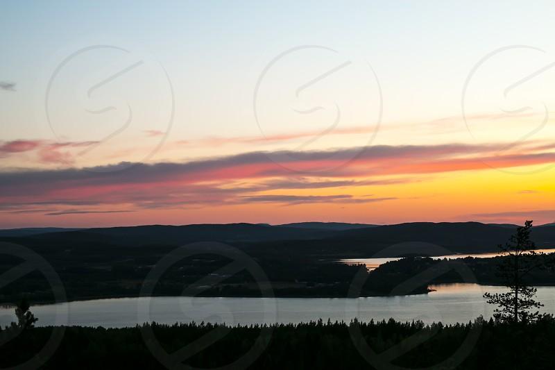 Sunset on fire photo