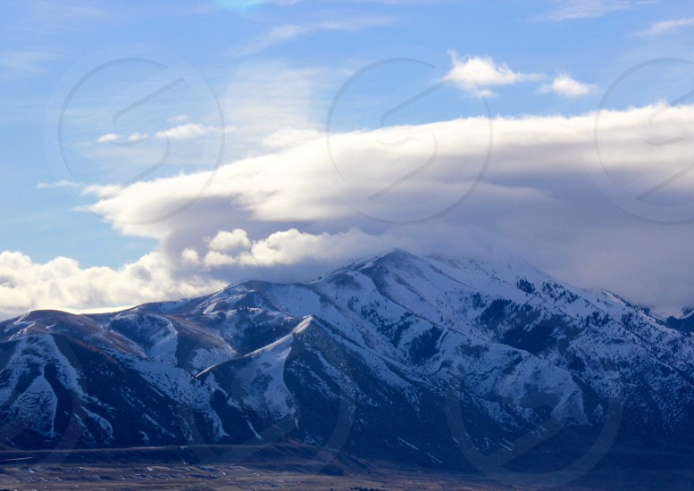 mountain cover by snow photo