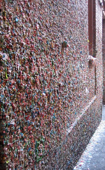 The flavors and colors of a gum wall.  photo