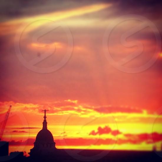 Old Bailey London England UK sunset skyline Justice photo