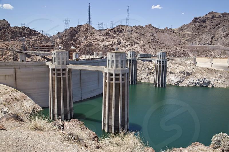 hoover dam nevada water power energy engineering photo