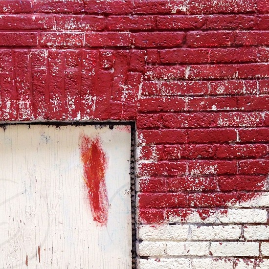 Painted brick photo