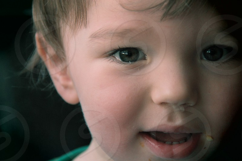 Because with childhood comes runny noses and messy faces. photo