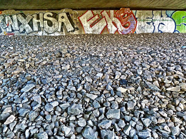 graffiti art under bridge photo