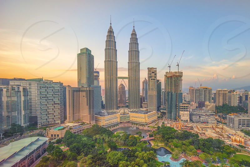 photograph of Petronas twin tower in Malaysia during daytime photo