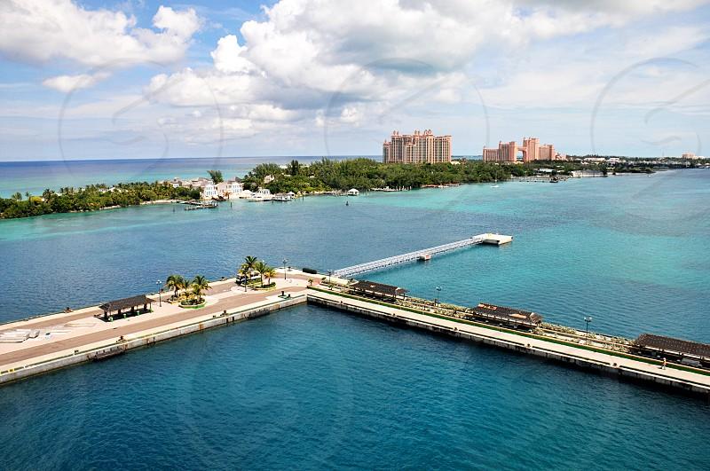 View of Atlantis Resort in Paradise Island Nassau Bahamas from the cruise port photo