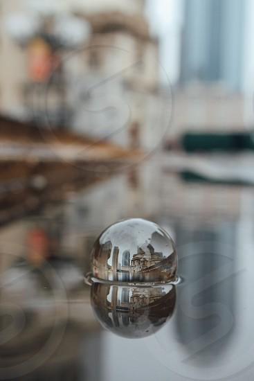 Circle reflection in boston photo