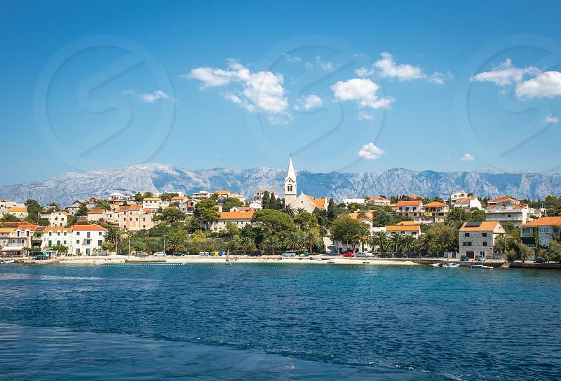 Seaside town on the Adriatic Sea in Croatia Europe photo