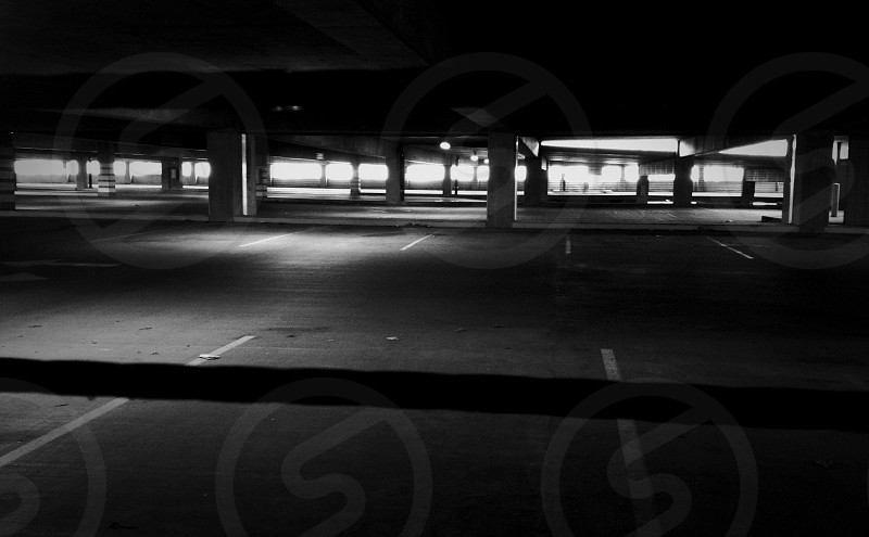 empty parking lot photo