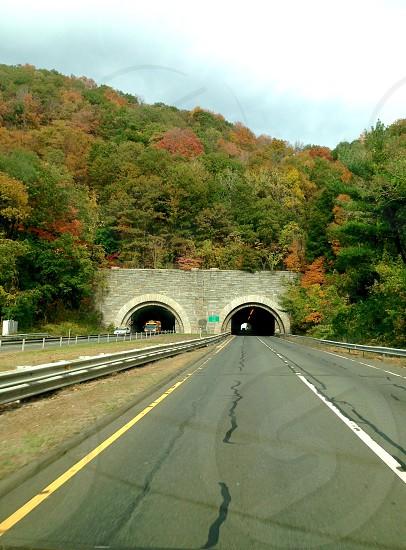 Tunnel in Fall photo