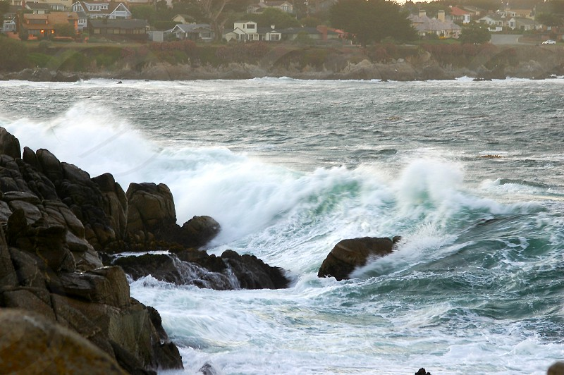 Ocean perspective Pacific Grove Monterey waves crashing photo