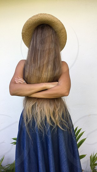 faceless portrait hair long hair witch out face  photo