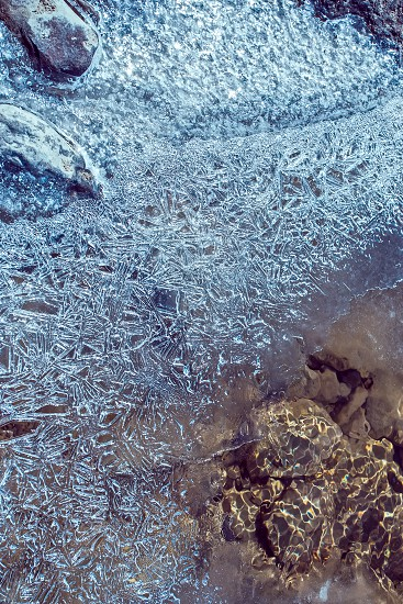 ice on a lake photo