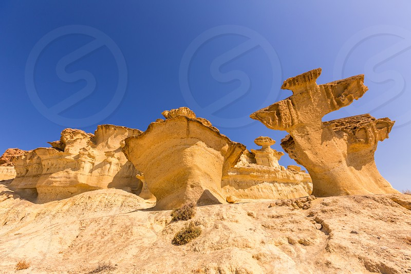 Bolnuevo Mazarron eroded sandstones in Murcia spain photo