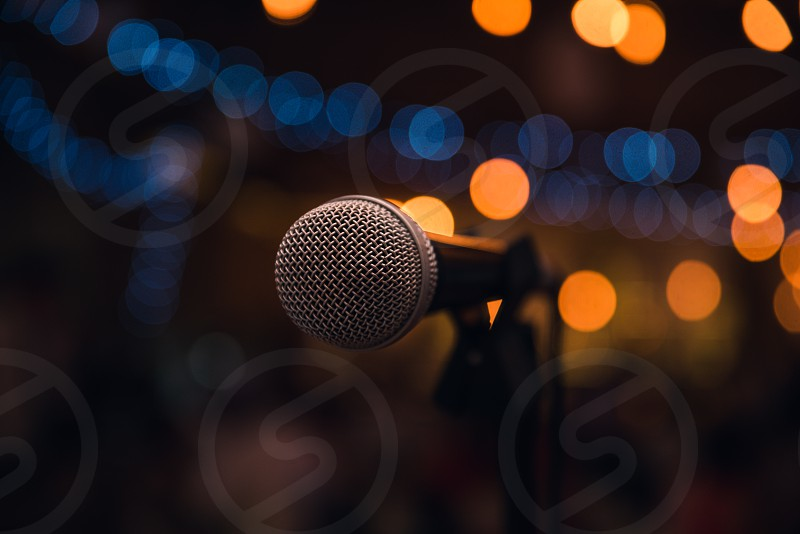 Concert microphone. photo