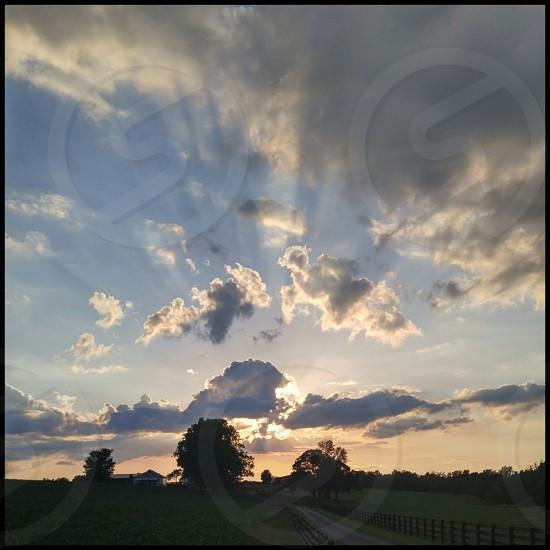 sunset kentucky clouds photo