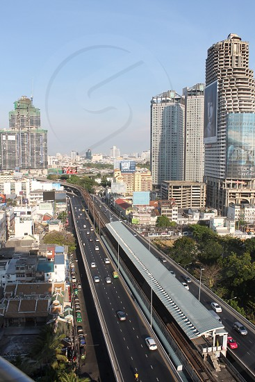 The busy roads of Bangkok photo