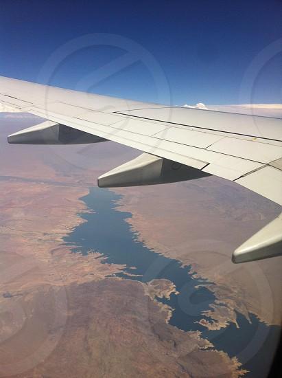 white plane wing photo