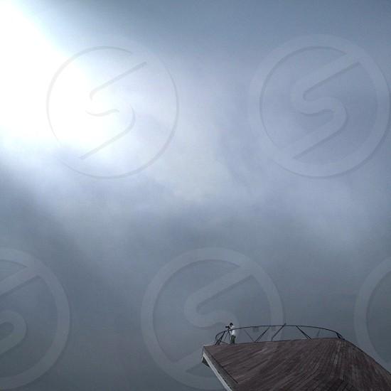 gray sky photo