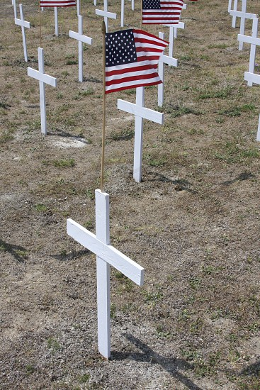cross grave markers photo