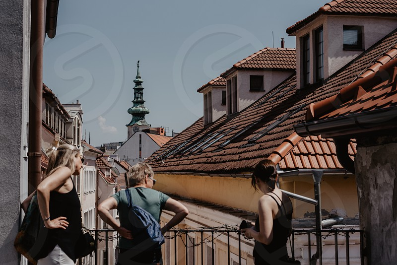 From above. Bratislava the Old town. photo