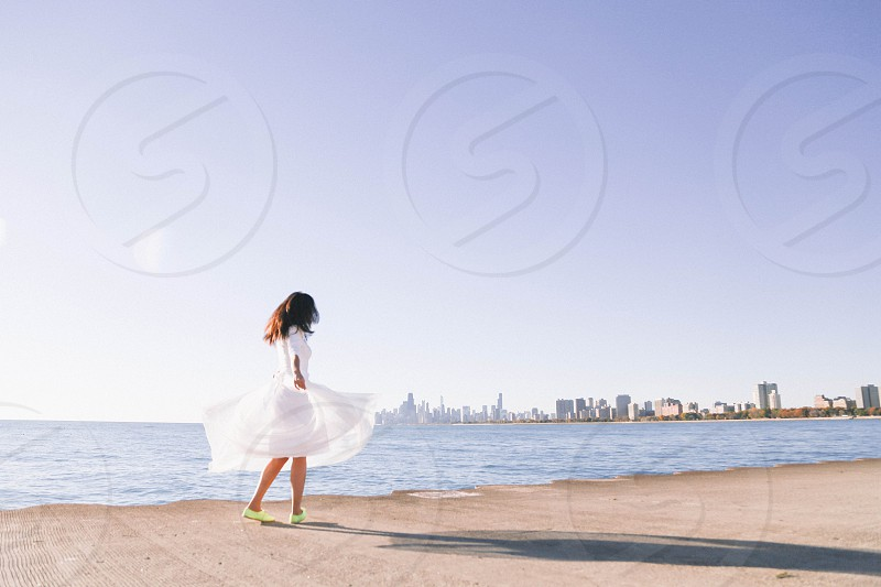 Twirling into the city photo