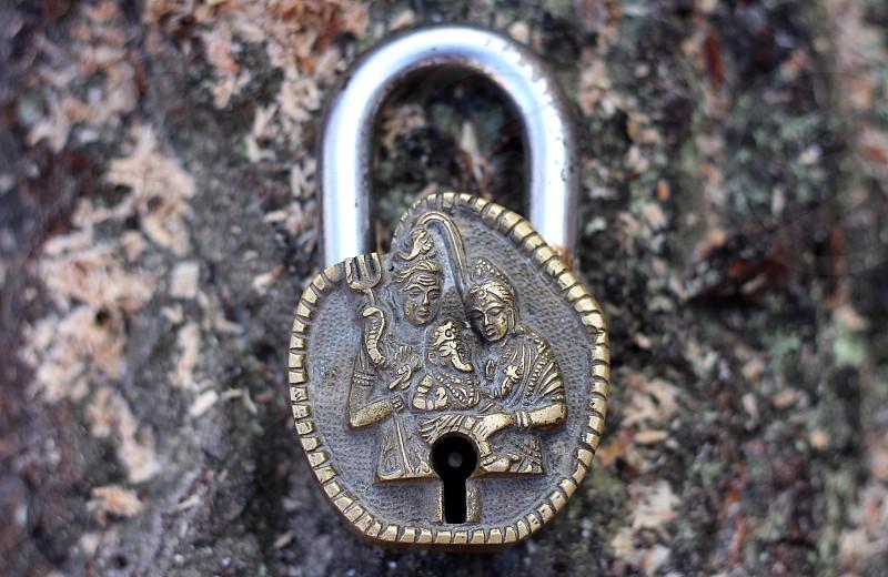 Vintage India padlock photo
