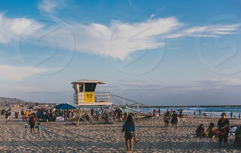 people on beach photo