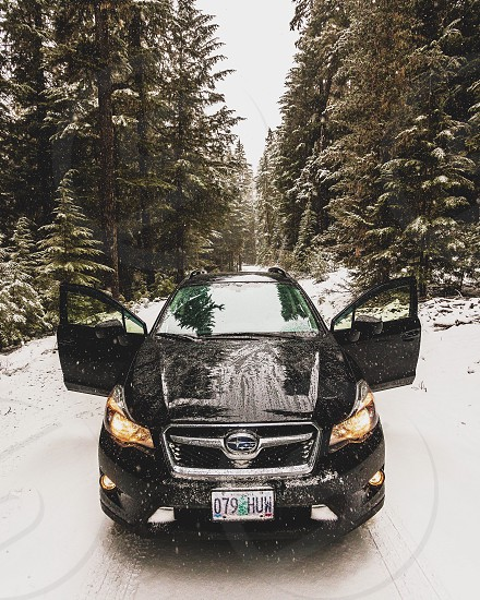 black Subaru car photo