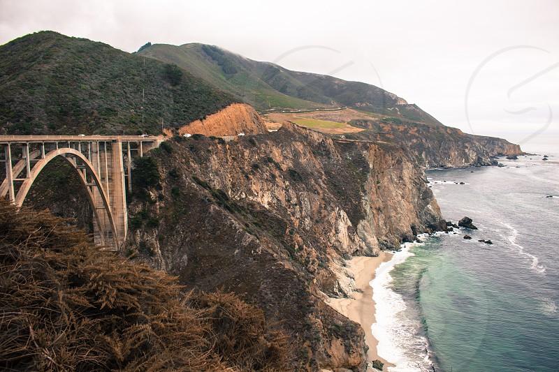 big sur bridge ocean photo