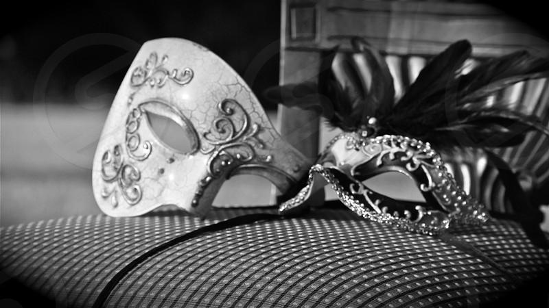 black and silver masquerade photo